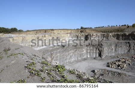 stone pit wall in Southern Germany at summer time - stock photo