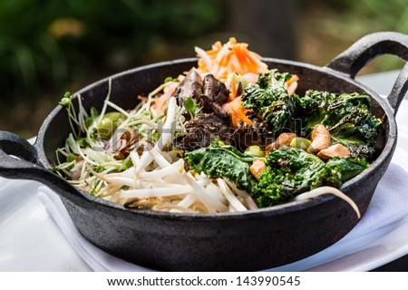 Stone rice bowl - stock photo