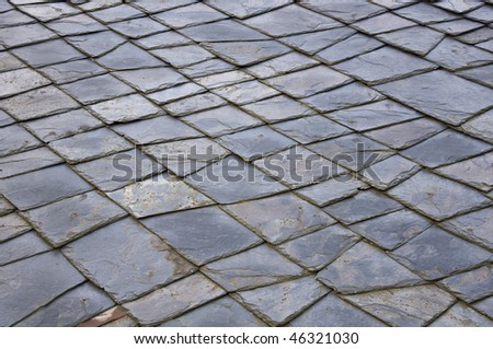 stone roof texture - stock photo