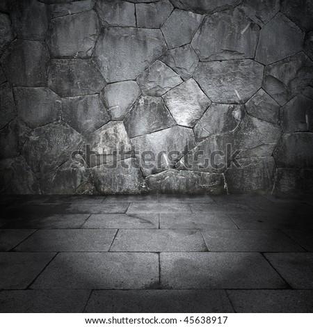 Stone room - stock photo