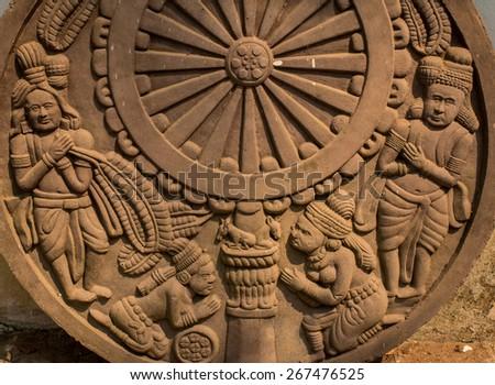 Stone Sculpture in Thai temple - stock photo
