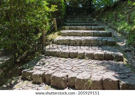 stone stairs - stock photo
