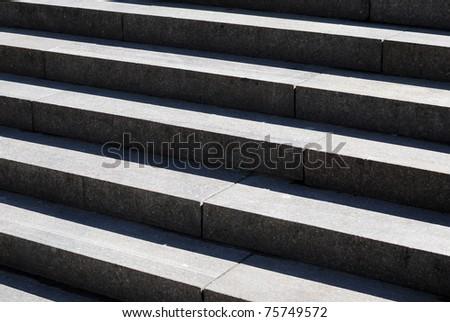 stone stairway - stock photo
