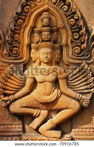 Stone statue of a Buddha in Thailand. - stock photo