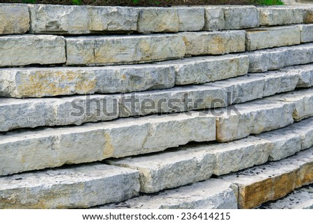 Stone steps in a park - stock photo