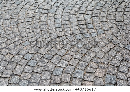 Stone street pavement from old Paris in france