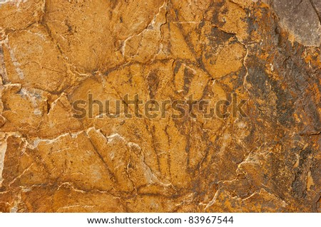 Stone structure - stock photo