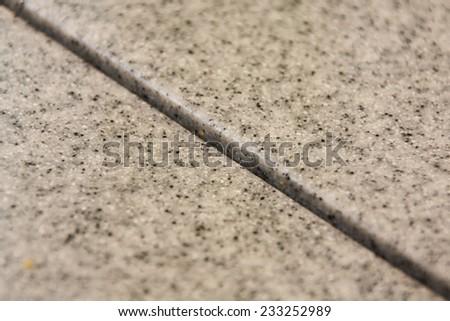 Stone table corner  - stock photo