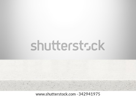Stone table top (countertop) on gray gradient abstract background - can be used for display or montage your products - stock photo