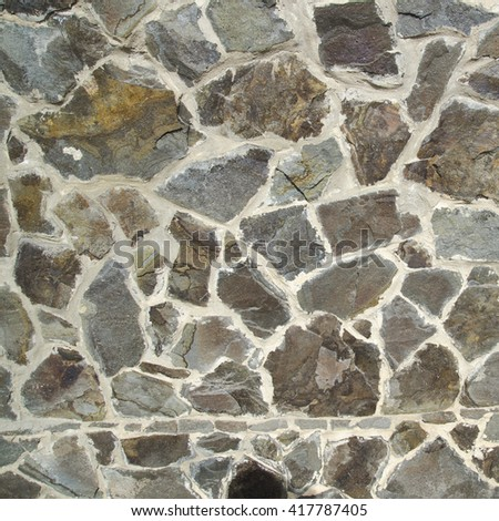 Stone texture made of different stones. Realistic texture photo - stock photo