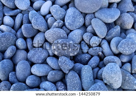 Stone texture reveals in the field - stock photo