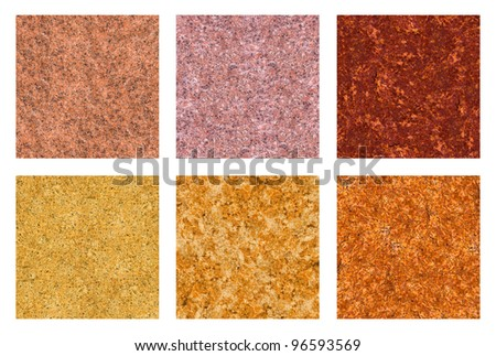 Stone texture set. Natural granite surface. - stock photo