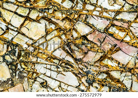 stone texture, wall surface of old building - stock photo