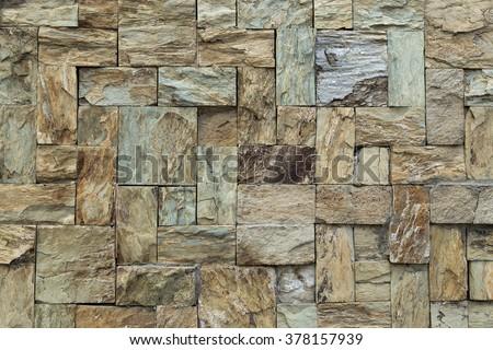 Stone tile textured wall - stock photo