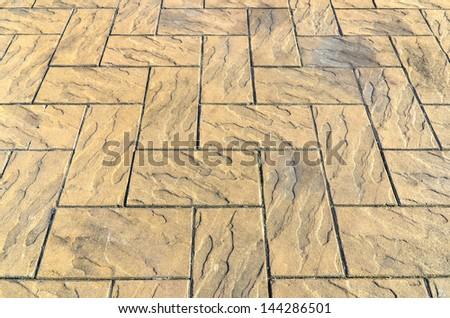 stone tiled floor - stock photo