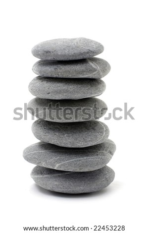 stone tower over white background