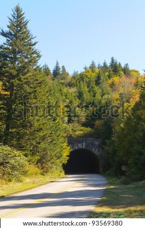 stone tunnel - stock photo
