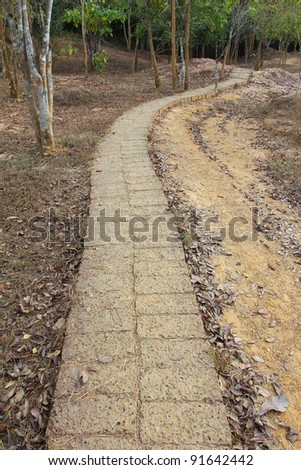 stone walkway - stock photo