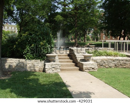 Stone Walkway, Oklahoma State University - stock photo