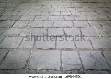 Stone walkway texture grunge style background - stock photo