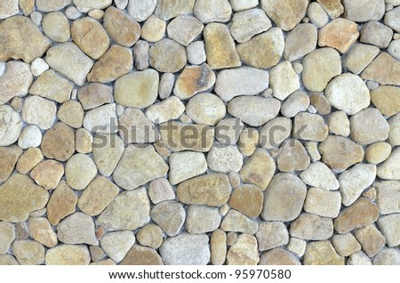 stone wall - stock photo