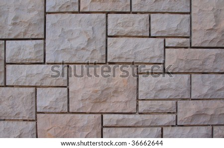 Stone wall abstract background - stock photo