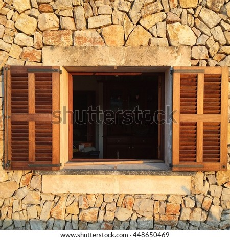 Spanish villa interior stock images royalty free images for Spanish style interior shutters