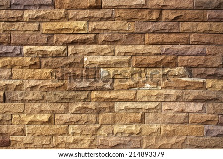 Stone wall background texture pattern. - stock photo