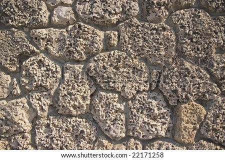 stone wall for background - stock photo