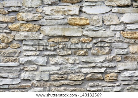 Stone wall  from granite.
