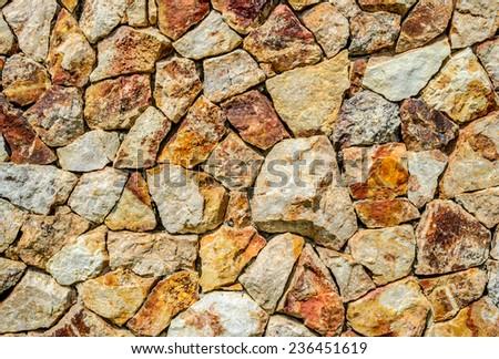 stone wall pattern - stock photo