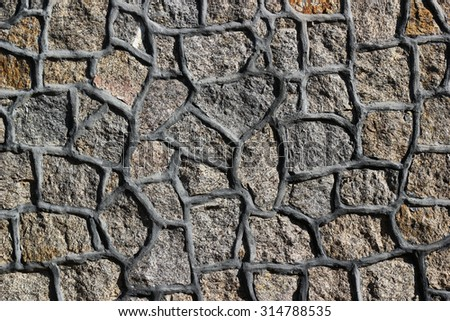 Stone wall pattern, pebbles background