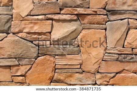 Stone wall texture background. - stock photo