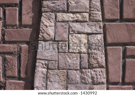 stone wall, two textures