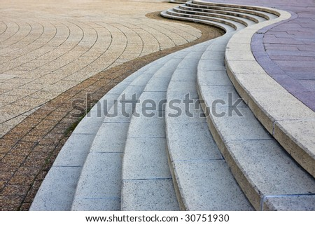 Stone wave - modern architecture abstract - museum of civilization, Gatineau, Canada - stock photo