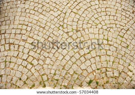 Stone, way, background - stock photo