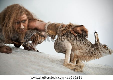 Stoneage Hunting - stock photo