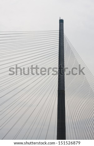 Stonecutter's Bridge in Hong Kong  - stock photo