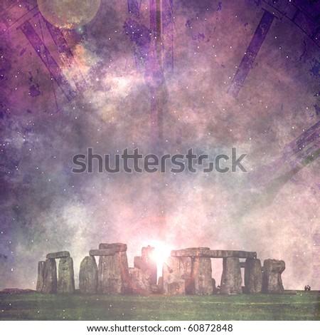 Stonehenge and time - stock photo