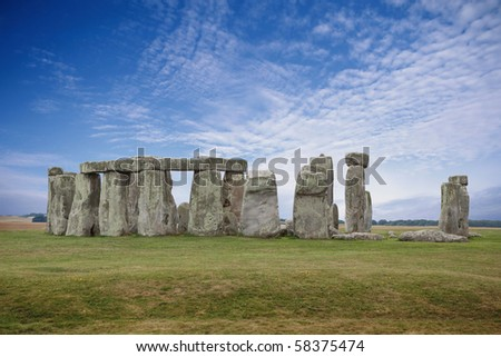 Stonehenge, England HDR shot. - stock photo