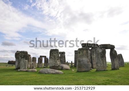 Stonehenge in Wiltshire, England. - stock photo