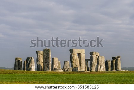 Stonehenge in Wiltshire, England, UK - stock photo