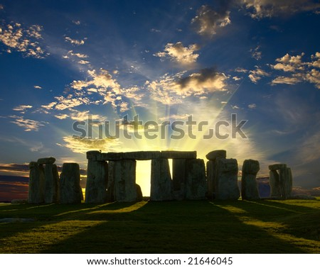 Stonehenge monument in United Kingdom - stock photo