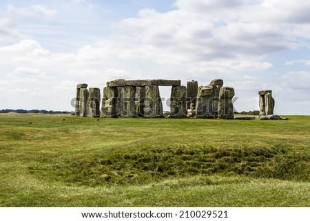 Stonehenge monument near Salisbury - stock photo