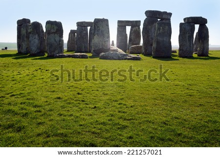 Stonehenge teken in United Kingdom - stock photo