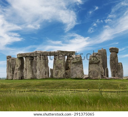 Stonehenge.Touristic attraction  - stock photo