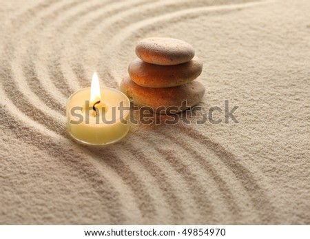 stones and light candle