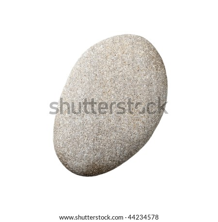 stones and on white background with clipping path - stock photo