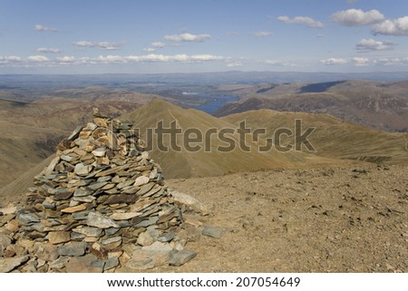 Stones and rocks on a Lake District mountain peak