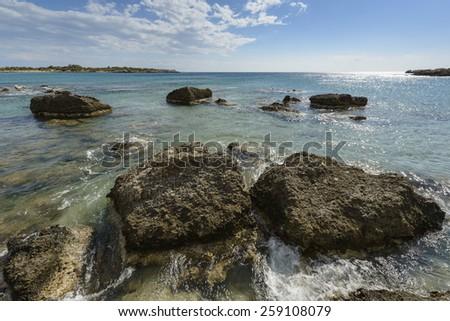 Stones and sea - stock photo